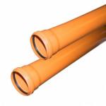 Труба канализационная нар. ф 110 с раструбом L=1,0м. толщ.ст.3,4 (10) VALFEX