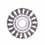 Щетка для УШМ 100мм/22 плоская крученая проволока