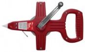 Рулетка  30м геодезическая , стальная лента, красная КУРС