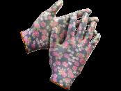 Перчатки садовые GRINDA, прозрач.нитрил.покрытие, черные, L-XL