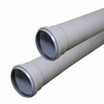 Труба канализационная вн. BASE  ф 50 с раструбом L=1,0м. толщ.ст.1,8 (10) VALFEX