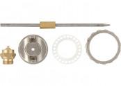 Ремкомплект д/краскораспылителя 4 предмета //MATRIX (сопло 1,5,игла,форсунка, зажим для сопла)