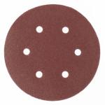Круг абразивный под липучку с отверстиями 150мм Р120 (5шт) MATRIX
