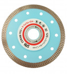 """Диск алмазный отрезной 125x10x22,23x1,3мм сплошная кромка сухой рез тонкий""""Spin X-TurboCeram"""" (1/50)"""