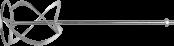 Насадка для миксеров перем. снизу-вверх  д160мм ЗУБР