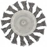 Щетка для дрели 100мм плоская со шпилькой металлическая Matrix