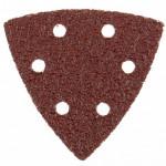Треугольник абразивный под липучку на ворсовой подложке, перф. 93мм №120 (5шт)