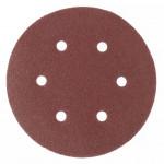 Круг абразивный под липучку с отверстиями 150мм Р220 (5шт) MATRIX