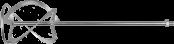 Насадка для миксеров перем. сверху-вниз д120мм ЗУБР