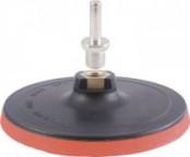 Круг шлифовальный резиновый с липучкой 150х10мм гайка М14+переходник для дрели