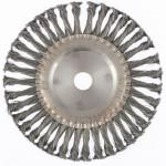Щетка для УШМ 200мм/22 плоская крученая проволока