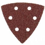 Треугольник абразивный под липучку на ворсовой подложке, перф. 93мм № 80 (5шт)