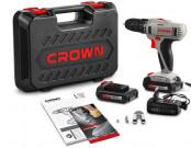Дрель аккумуляторная CROWN CT21055L BMC, 14.4В 2 аккумулятора в кейсе