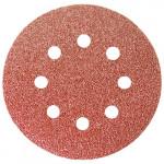 Круг абразивный под липучку с отверстиями 125мм Р150 (5шт) MATRIX