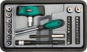 Отвертка Т-образная, реверс., Профи,WP35-в-1 в чемод. FIT