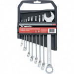 Набор ключей комбинированных 6-22мм 9шт полиров.хром Matrix