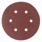 Круг абразивный под липучку с отверстиями 150мм Р280 (5шт) MATRIX