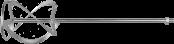 Насадка для миксеров перем. снизу-вверх д120мм ЗУБР