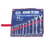 Набор комбинированных ключей 8-24мм 11 предметов KING TONY