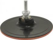 Круг шлифовальный резиновый с липучкой 150х3мм гайка М14+переходник для дрели
