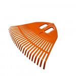 Грабли веерные пластмассовые 500мм 23 зуба оранжевые