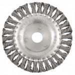 Щетка для УШМ 150мм/22 плоская крученая проволока