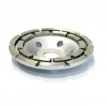 Чашка алмазная 125*22,23мм шлифовальная двухрядная сегментная Spin Basic (24/24)