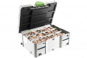 Набор шипов и фрез FESTOOL DOMINO 1060x BU бук в чемодане