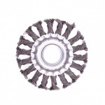 Щетка для УШМ 125мм/22 плоская крученая проволока Matrix