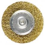 Щетка для дрели 100мм плоская, металлическая Matrix