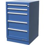 Тумба верстачная с 5 ящиками и ц/замком синий цв.01.405R-5015