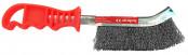 Щетка 1-рядная проволочная стальньная с пластмассовой ручкой Bohrer