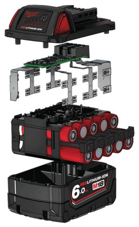 Аккумулятор 18,0В 6,0Ач Li-Ion Milwaukee 18В B6