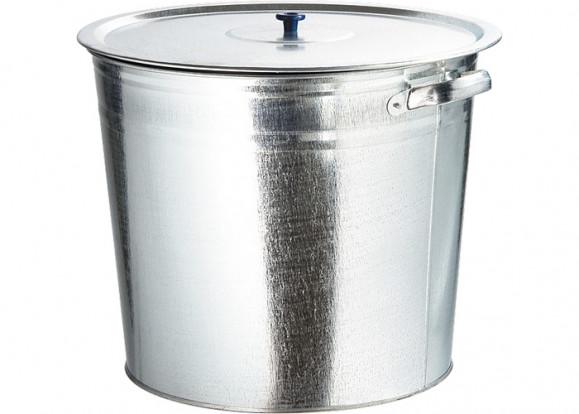 Бак для воды 32л., оцинков. с крышкой